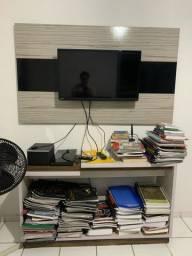 TV 32 polegadas + painel + estante (raque)