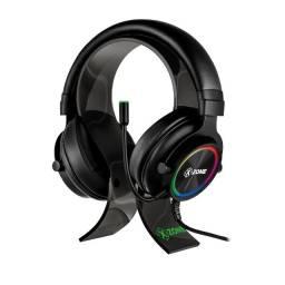 Headset xzone Gamer Rgb GHS-01 com Suporte