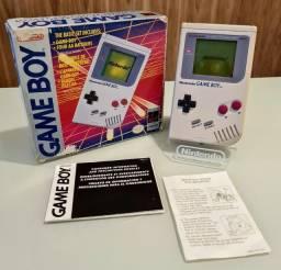 Game Boy Classic original com caixa e manuais