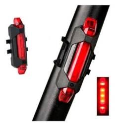 Luz led traseira bike vermelha recarregável a prova d agua