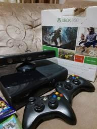 Xbox 360 original destravado com kinect