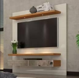 Home Suspenso com Espelho e LED Tb107e - Dalla Costa - Freijó/Off White