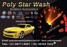 Estética Automotiva POLY Star Wash atendimento agendado