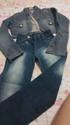 Casaco e calça jeans tamnho 6