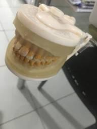 Manequim Marília com dentes de periodontia.