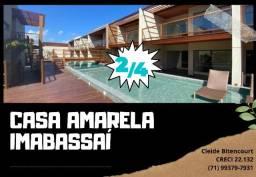 CB - Imbassaí - Casa Amarela - Village, 2/4, suíte - Nascente - 4 vagas