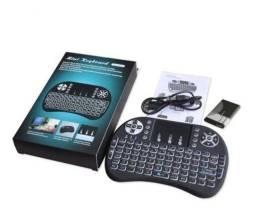 Mini Teclado Wireless Mouse Touch Sem Fio Wireless para Tv box, pc Promoçao