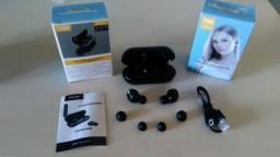 Fone Bluetooth B5 TWS novo na caixa