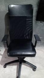 Cadeira presidente com encosto de tela giratória ergonômica