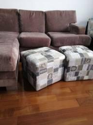 Sofa chaise 3 LUGARES + 2 PUFFS