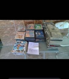 Lote de cds e dvds