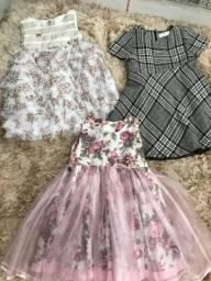 Combo 3 vestidos infantil