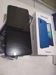 12x de 90 reais celular 64gb novo nunca usado Samsung a02 azul