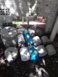Pesos feitos de concreto