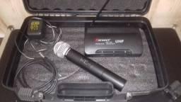 Microfone Sem Fio completo Karsec com case