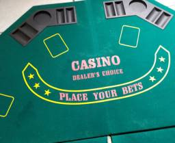 Tampo de Mesa de poker octagonal portátil