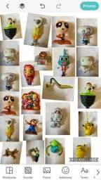 Vários personagens de filmes e desenhos infantis