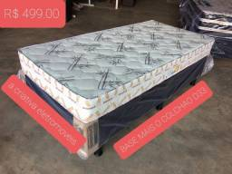 cama - conjunto de solteiro base mais colchão