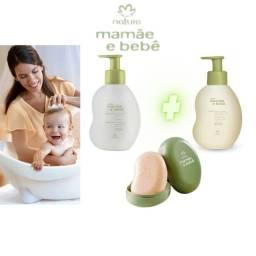 Shampoo + Condicionador + Sabonete Natura Mamãe e Bebê Kit