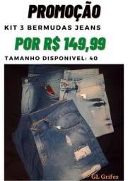 Bermudas Jeans.