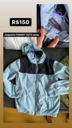 Jaqueta infantil Farah 12/13 anos nova