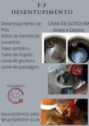 Desentupidor de ralos, pias, vasos sanitários em geral