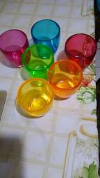 6 Copos Coloridos