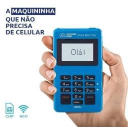 Point Mini Chip Mercado Pago - máquinas de cartão com chip de internet e wifi grátis