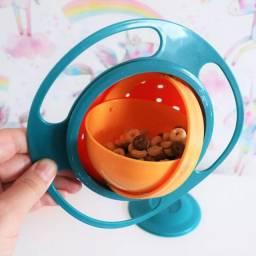 Prato Mágico Infantil Giratório 360? Não Cai Comida