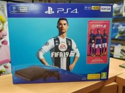 PlayStation 4 SONY 500gb Lacrado com jogo FIFA 19(game hero/Madureira)