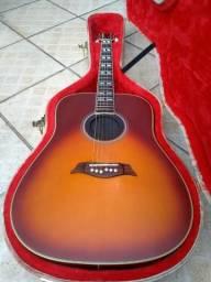 Violão Folk Michael Vm925 Dt Sunburst Fosco + Case luxo