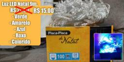 Luz Natal 9 metros = 15 reais