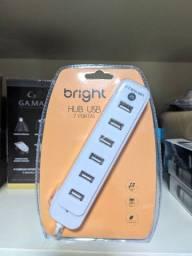 Hub Usb 2.0 Bright 0191 7 Portas Pc Notebook Portátil