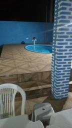 Casa com piscina no Abais na beira da praia