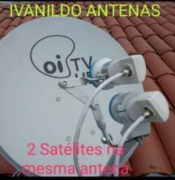 Instalação  de  antenas  e  apontamento.
