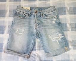 Bermuda Jeans Hollister tamanho 38