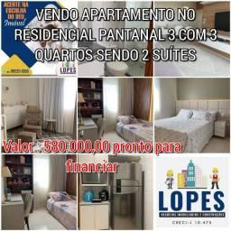 Vendo apartamento Parque Pantanal 3 com 3 quartos sendo 2 suítes