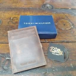 Porta Cartões Tommy Hilfiger em couro legítimo - Fotos reais