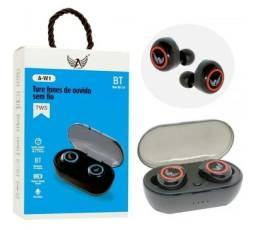 Fone de ouvido Bluetooth tws Preto automex Qualidade