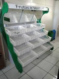 Banca de frutas e legumes Refrimate 12 caixas Nova Frete Grátis