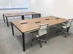 Mesas de escritório Caderode para 8 lugares, com 3 meses de uso!