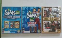 Kit 3 jogos the sims 2 e medieval