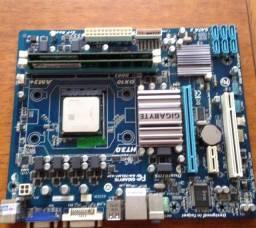 Placa mãe + Processador + 12gb de Memória