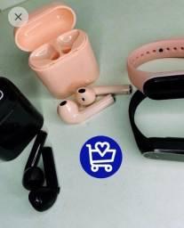 Relogio Smartband M4 e Fone de ouvido i7s - Faço entrega
