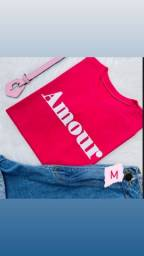 Tshirt Feminina Rosa