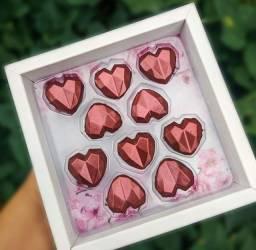 Caixa com 10 Mini corações