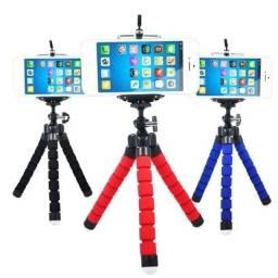 Mini Tripé Flexível para Smartphone e Câmera