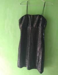 Vestido paetê preto