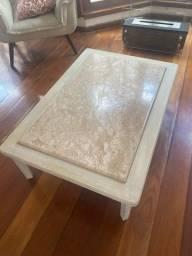 Conjunto mesa de centro e mesa lateral