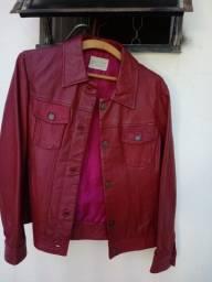 Título do anúncio: Jaqueta de couro feminina vermelha